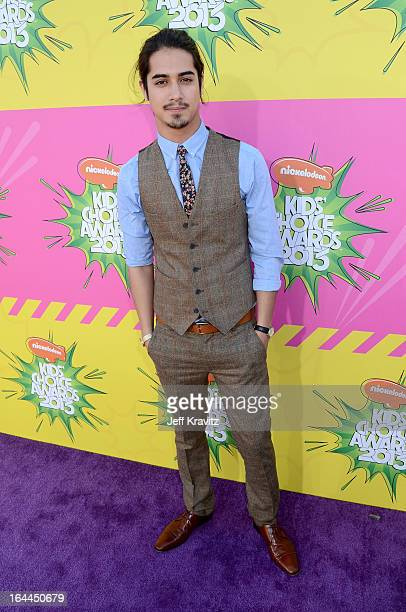 Actor Avan Jogia arrives at Nickelodeon's 26th Annual Kids' Choice Awards at USC Galen Center on March 23 2013 in Los Angeles California