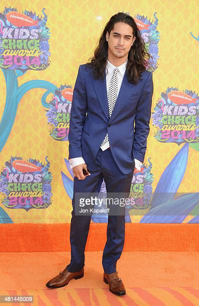 Actor Avan Jogia arrives at Nickelodeon's 27th Annual Kids' Choice Awards at USC Galen Center on March 29 2014 in Los Angeles California