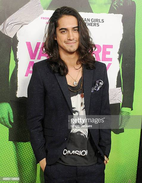 Actor Avan Jogia arrives at the Los Angeles premiere of Vampire Academy at Regal Cinemas LA Live on February 4 2014 in Los Angeles California
