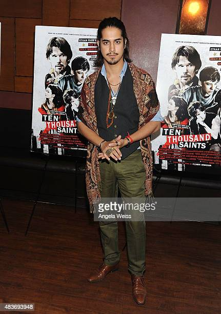Actor Avan Jogia attends a special screening of Archer Gray's 'Ten Thousand Saints' at Piknic on August 11 2015 in Century City California