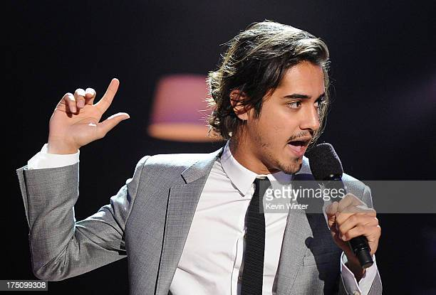 Actor Avan Jogia speaks onstage at the DoSomethingorg and VH1's 2013 Do Something Awards at Avalon on July 31 2013 in Hollywood California