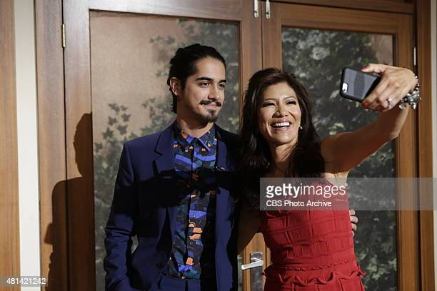 Actor Avan Jogia visits the ladies of 'The Talk' Friday July 17 2015 on the CBS Television Network From left Avon Jogia and Julie Chen shown