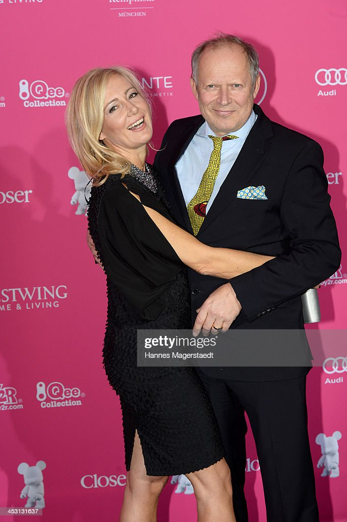 Actor Axel Milberg and his wife Judith Milberg attend the Closer Charity Event SMILE at Hotel Vier Jahreszeiten on December 2, 2013 in Munich, Germany.