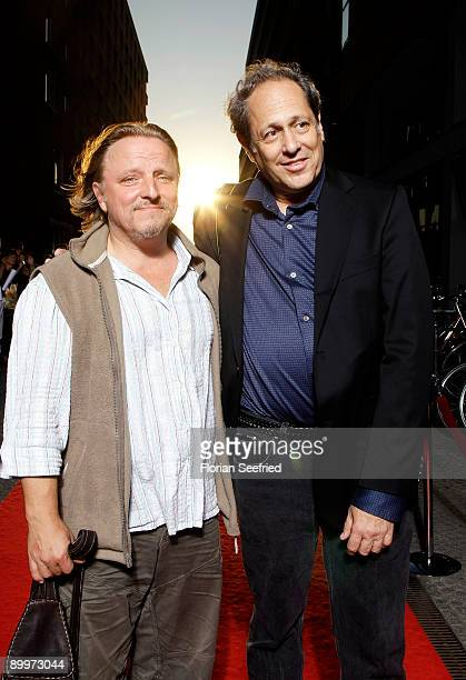 Actor Axel Prahl and Glenn Lambert son of Gretel BergmannLambert attend the premiere of 'Berlin 36' at CineMaxx at Potsdam Place on August 20 2009 in...