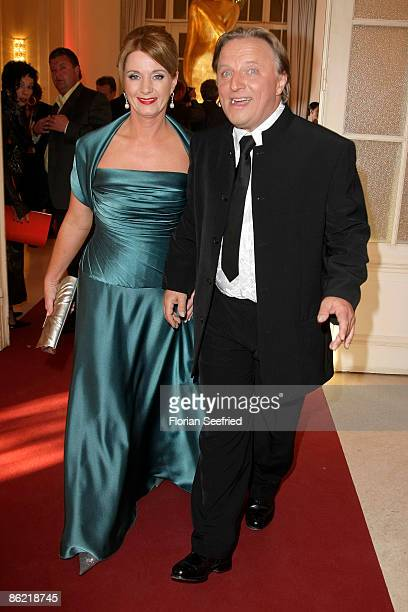Actor Axel Prahl and wife Andra Pauline Prahl attend the '20th Romy Award' at the Hofburg on April 25 2009 in Vienna Austria