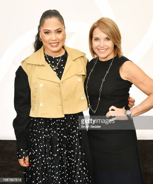 Actor Ayesha Curry and journalist Katie Couric pose as CVS Pharmacy unveils new beauty aisles featuring Unaltered brand partner 2019 beauty campaigns...