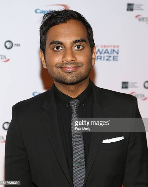 Actor Aziz Ansari arrives to The Kennedy Center Mark Twain Prize Honors Bill Murray event at The Kennedy Center on October 23 2016 in Washington DC