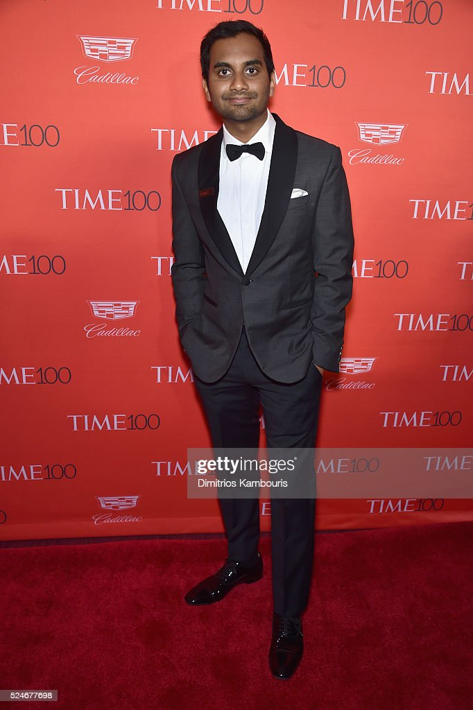Actor Aziz Ansari attends 2016 Time 100 Gala, Time's Most Influential People In The World red carpet at Jazz At Lincoln Center at the Times Warner Center on April 26, 2016 in New York City.