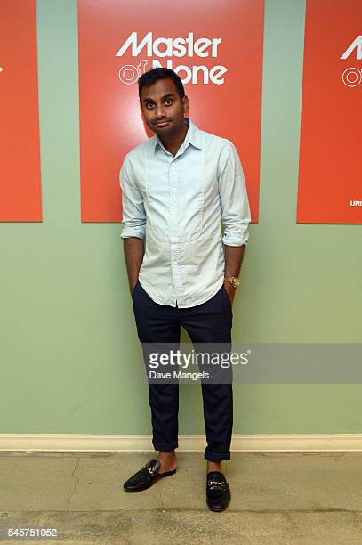 "Actor Aziz Ansari attends FYC @ UCB for ""Master Of None"" at UCB Sunset Theater on July 9, 2016 in Los Angeles, California."