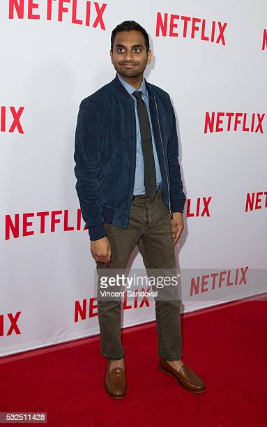 Actor Aziz Ansari attends Netflix's 'Master Of None' Emmy season screening and panel at The Paley Center for Media on May 18 2016 in Beverly Hills...