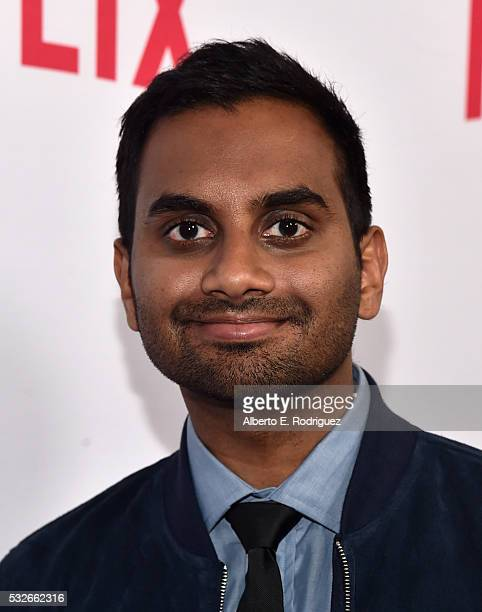 """Actor Aziz Ansari attends Netflix's """"Master of None"""" Emmy Season Screening and panel on May 18, 2016 in Beverly Hills, California."""
