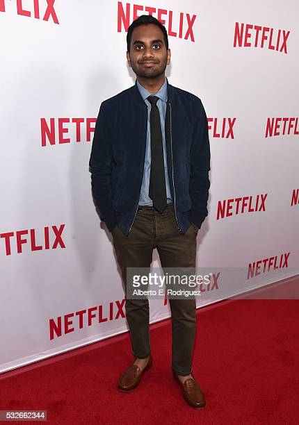 Actor Aziz Ansari attends Netflix's 'Master of None' Emmy Season Screening and panel on May 18 2016 in Beverly Hills California