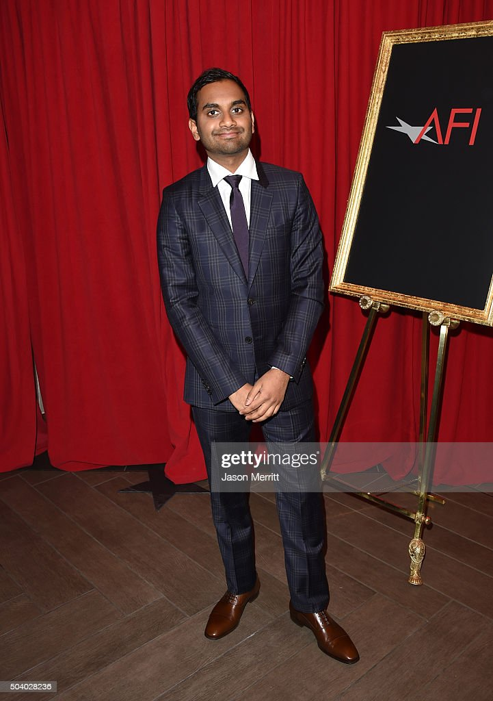 Actor Aziz Ansari attends the 16th Annual AFI Awards at Four Seasons Hotel Los Angeles at Beverly Hills on January 8, 2016 in Beverly Hills, California.