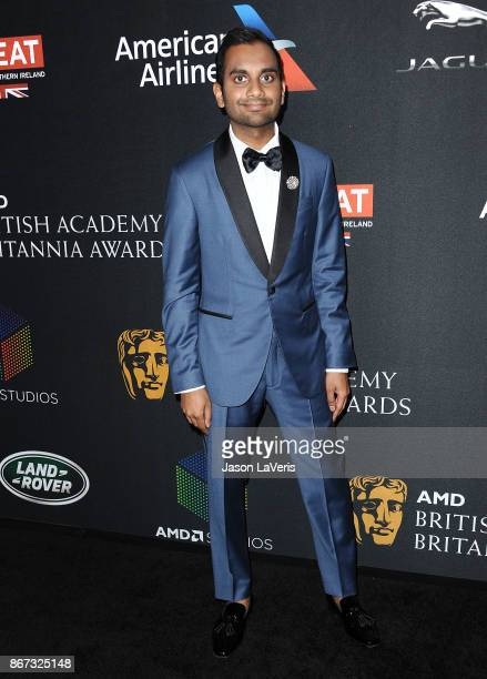 Actor Aziz Ansari attends the 2017 AMD British Academy Britannia Awards at The Beverly Hilton Hotel on October 27 2017 in Beverly Hills California