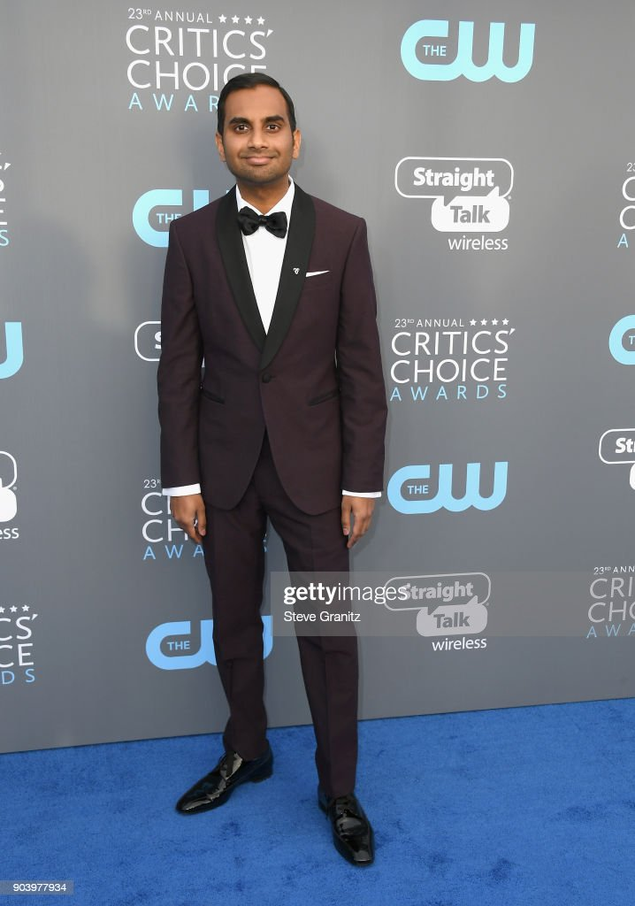 Actor Aziz Ansari attends The 23rd Annual Critics' Choice Awards at Barker Hangar on January 11, 2018 in Santa Monica, California.