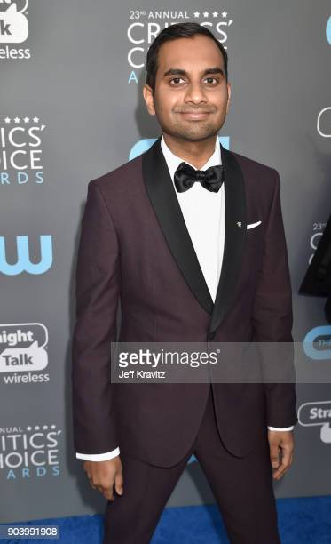 Actor Aziz Ansari attends The 23rd Annual Critics' Choice Awards at Barker Hangar on January 11 2018 in Santa Monica California