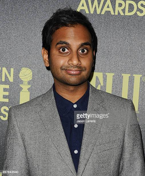 Actor Aziz Ansari attends the Hollywood Foreign Press Association and InStyle's celebration of the 2016 Golden Globe award season at Ysabel on...