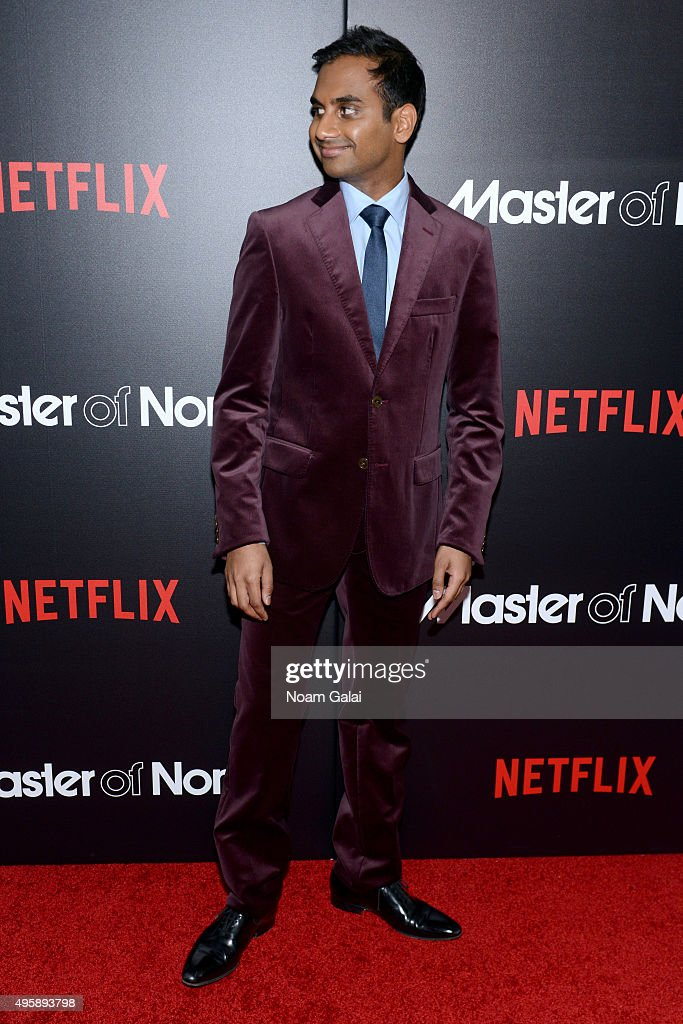 Actor Aziz Ansari attends the 'Master Of None' New York premiere at AMC Loews 19th Street East 6 Theater on November 5, 2015 in New York City.