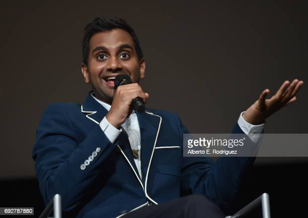 Actor Aziz Ansari attends the panel discussion for Netflix's 'Master of None' For Your Consideration Event at the Saban Media Center on June 5 2017...