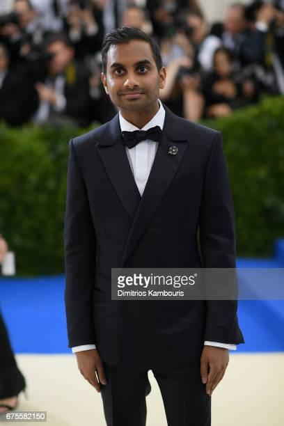 Actor Aziz Ansari attends the 'Rei Kawakubo/Comme des Garcons Art Of The InBetween' Costume Institute Gala at Metropolitan Museum of Art on May 1...