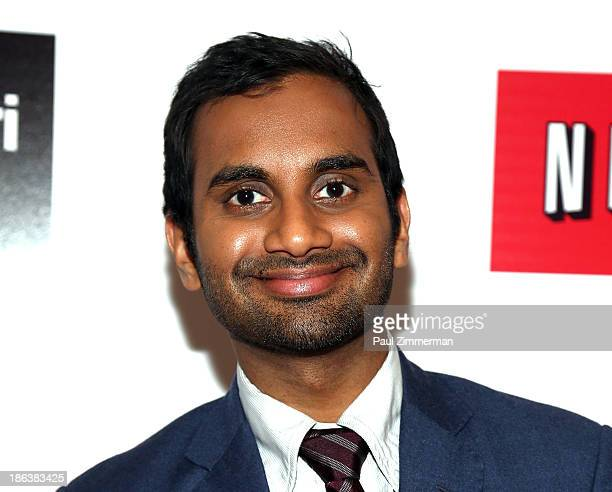 Actor Aziz Ansari attends the screening of Aziz Ansari Buried Alive Premiere at Village East Cinema on October 30, 2013 in New York City.