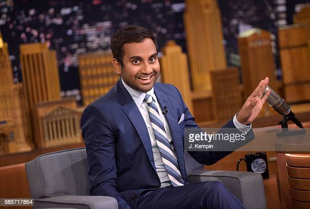 Actor Aziz Ansari visits 'The Tonight Show Starring Jimmy Fallon' at Rockefeller Center on August 3 2016 in New York City
