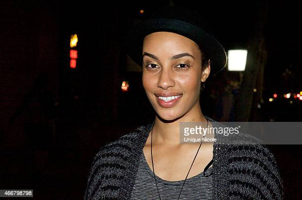 Actor AzMarie Livingston attends the Empire Season Finale Viewing Party at The Man Cave Ultimate Sports Bar and Lounge on March 18 2015 in Los...