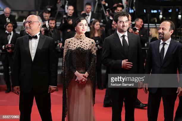 Actor Babak Karimi actress Taraneh Alidoosti actor Shahab Hosseini and director Asghar Farhadi attend The Salesman Premiere during the 69th annual...