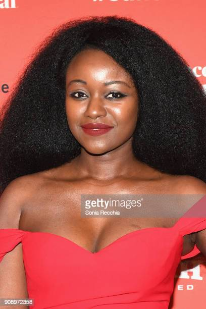 Actor Babetida Sadjo attends the 'And Breathe Normally' Premiere during the 2018 Sundance Film Festival at Prospector Square on January 22 2018 in...