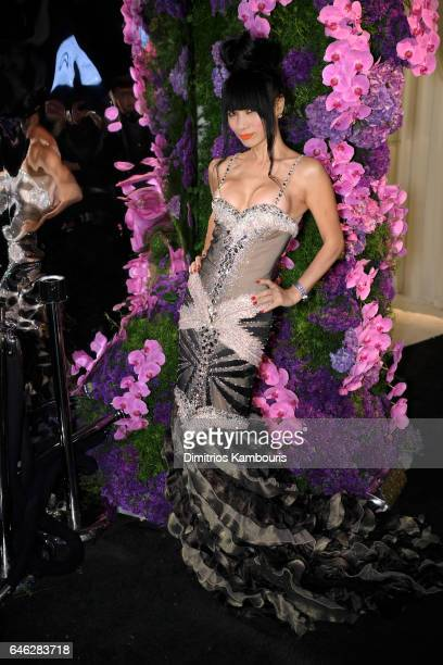 Actor Bai Ling attends the 25th Annual Elton John AIDS Foundation's Academy Awards Viewing Party at The City of West Hollywood Park on February 26...