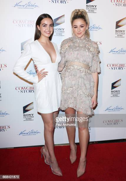 Actor Bailee Madison and Chloe Lukasiak attend the premiere of 'A Cowgirl's Story' at Pacific Theatres at The Grove on April 13 2017 in Los Angeles...