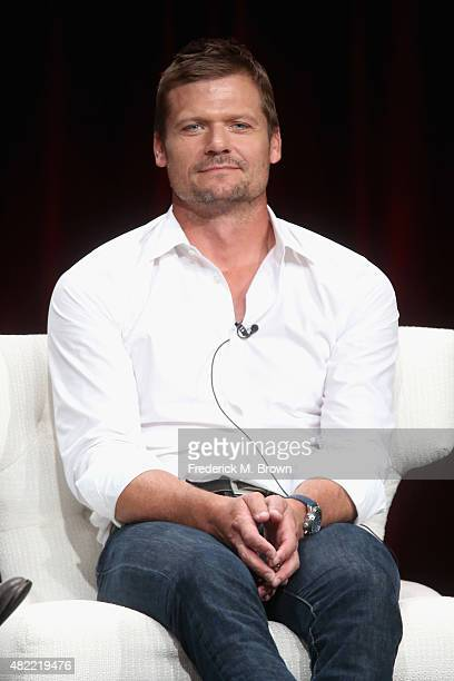 """Actor Baily Chase speaks onstage during the """"Longmire"""" panel discussion at the Netflix portion of the 2015 Summer TCA Tour at The Beverly Hilton..."""