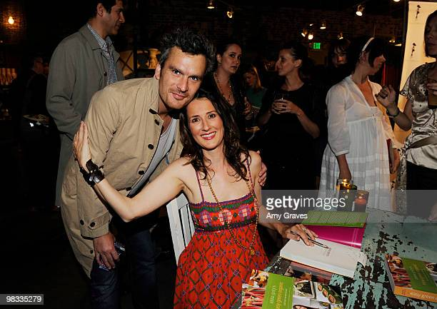 Actor Balthazar Getty and writer Anna Getty attend the Anna Getty 'Easy Green Organic Cook Well Eat Well Live Well' Book Party at Rolling Greens on...