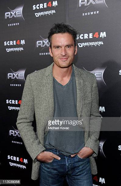 Actor Balthazar Getty attends the World Premiere of The Weinstein Company's Scream 4 presented by AXE Shower held at the Grauman's Chinese Theatre on...