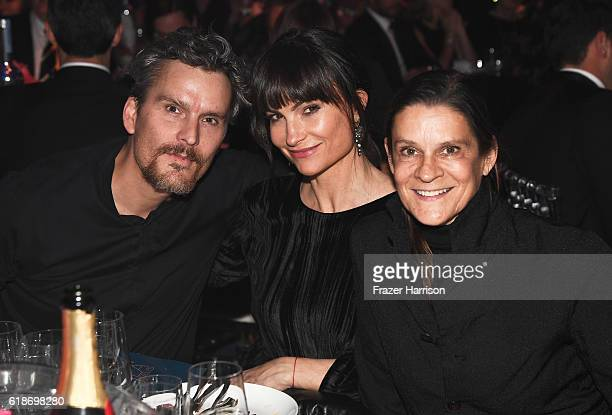 Actor Balthazar Getty designer Rosetta Millington and philanthropist Aileen Getty attend amfAR's Inspiration Gala Los Angeles at Milk Studios on...