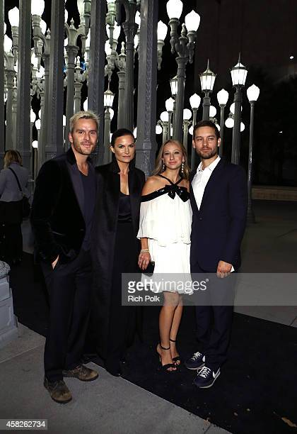 Actor Balthazar Getty, fashion designer Rosetta Millington, jewelry designer Jennifer Meyer and actor Tobey Maguire attend the 2014 LACMA Art + Film...
