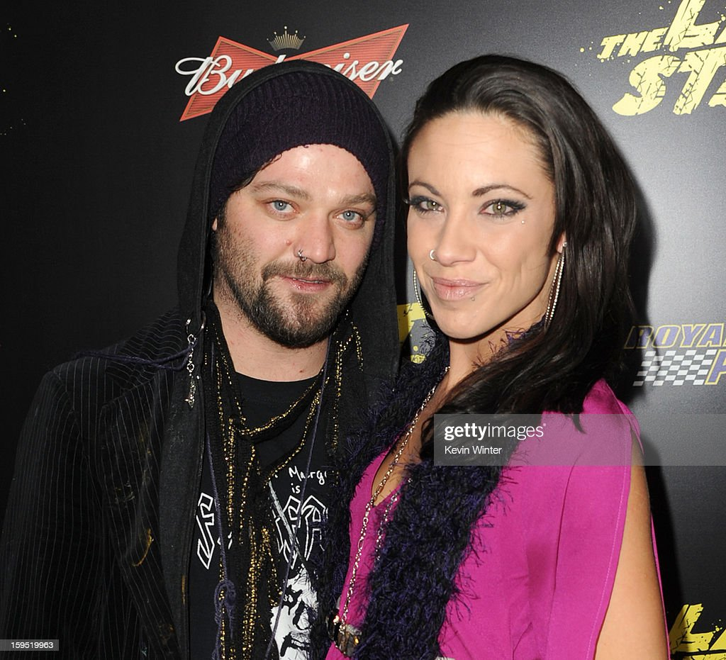 Actor Bam Margera (L) and Nicole Boyd arrive at the premiere of Lionsgate Films' 'The Last Stand' at Grauman's Chinese Theatre on January 14, 2013 in Hollywood, California.