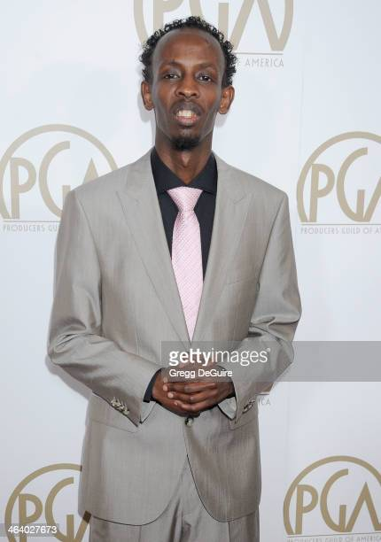 Actor Barkhad Abdi arrives at the 25th Annual Producers Guild Awards at The Beverly Hilton Hotel on January 19 2014 in Beverly Hills California