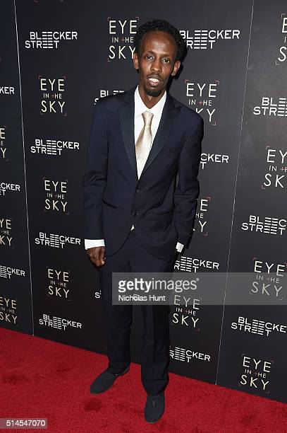 Actor Barkhad Abdi attend the 'Eye In The Sky' New York Premiere at AMC Loews Lincoln Square 13 theater on March 9 2016 in New York City