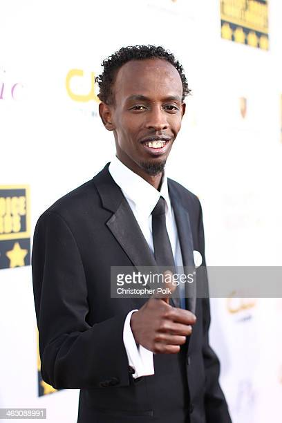 Actor Barkhad Abdi attends the 19th Annual Critics' Choice Movie Awards at Barker Hangar on January 16 2014 in Santa Monica California