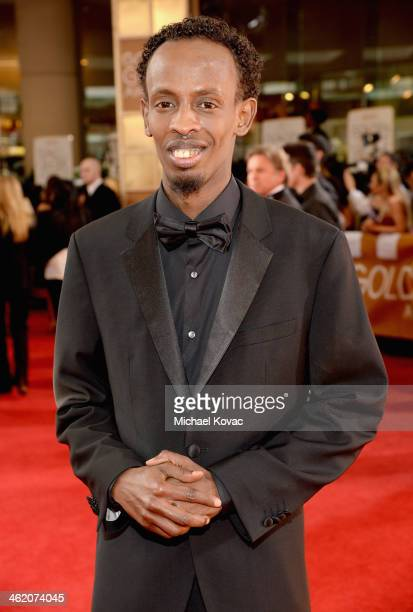 Actor Barkhad Abdi attends the 71st Annual Golden Globe Awards with Moet Chandon held at the Beverly Hilton Hotel on January 12 2014 in Los Angeles...