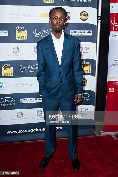 Actor Barkhad Abdi attends the 9th Annual LA Italia Film Fashion and Art's Festival closing night awards ceremony hosted at the TCL Chinese Theatre...
