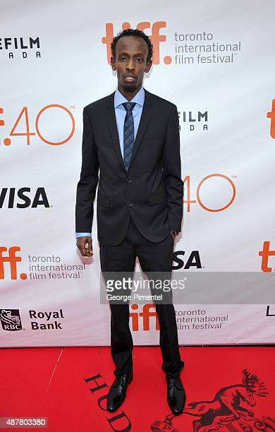 Actor Barkhad Abdi attends the 'Eye In The Sky' premiere during the 2015 Toronto International Film Festival at Roy Thomson Hall on September 11 2015...