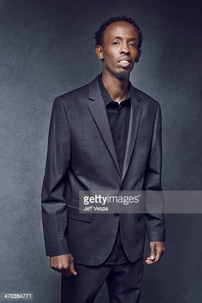 Actor Barkhad Abdi is photographed or Self Assignment on February 10 2014 in Beverly Hills California