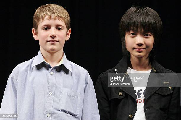 Actor Barney Clark and Japanese actor Ryunosuke Kamiki pose for photographers before the movie directed by Roman Polanski 'Oliver Twist' during the...