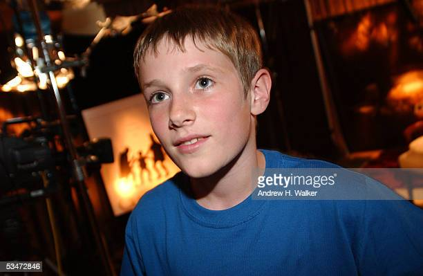 Actor Barney Clark finishes the press junket at 330 pm on August 27 2005 in New York City The London born actor stars in Oliver Twist directed by...