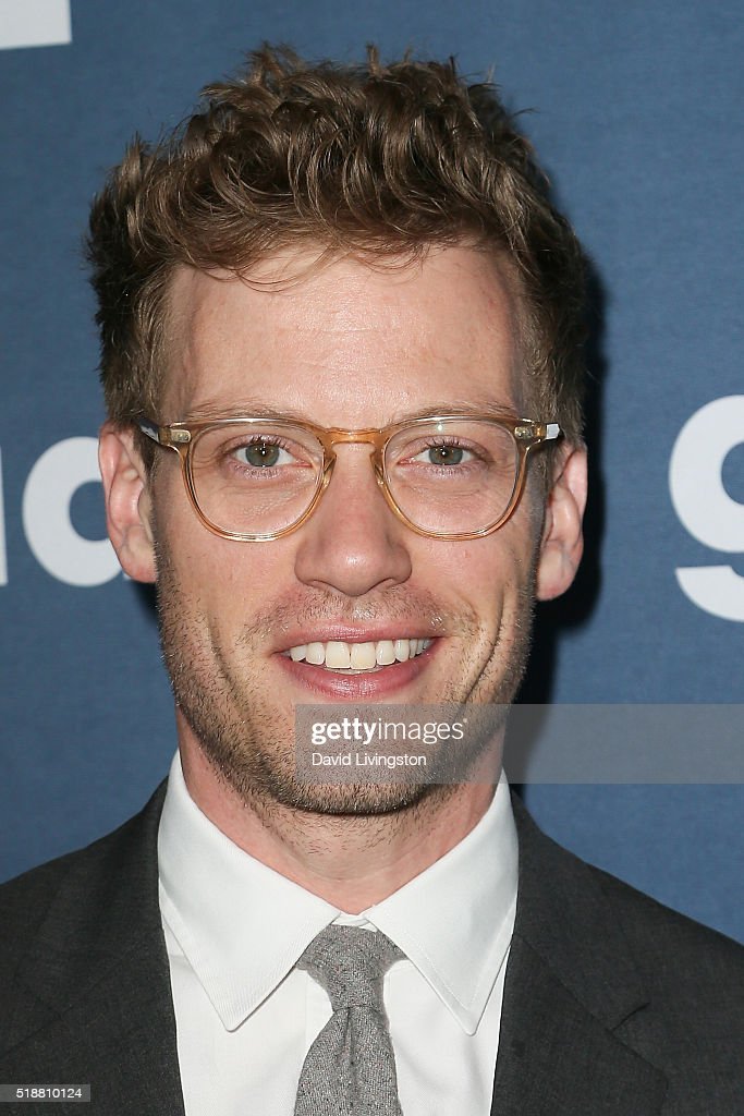 Actor Barrett Foa arrives at the 27th Annual GLAAD Media Awards at The Beverly Hilton Hotel on April 2, 2016 in Beverly Hills, California.