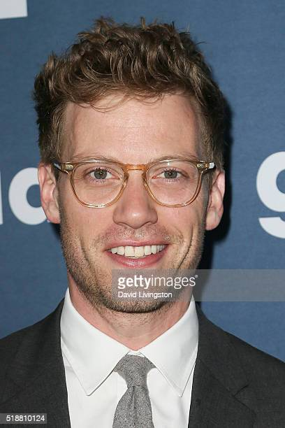 Actor Barrett Foa arrives at the 27th Annual GLAAD Media Awards at The Beverly Hilton Hotel on April 2 2016 in Beverly Hills California