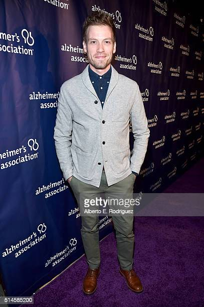 Actor Barrett Foa attends the 24th and final 'A Night at Sardi's' to benefit the Alzheimer's Association at The Beverly Hilton Hotel on March 9 2016...