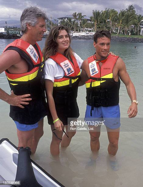 Actor Barry Bostwick, actress Brooke Shields and actor Jean-Claude Van Damme attend the Ritz-Carlton Mauna Lana Celebrity Sports Invitational -...